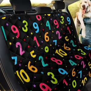 Vivid Number And Colorful Dots Car Back Seat Cover Dog Car Seat Covers
