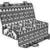 White And Black Aztec Pattern Print Pet Car Back Seat Cover