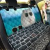 Winter White Dwarf Hamster Design Car Back Seat Cover Dog Car Seat Covers